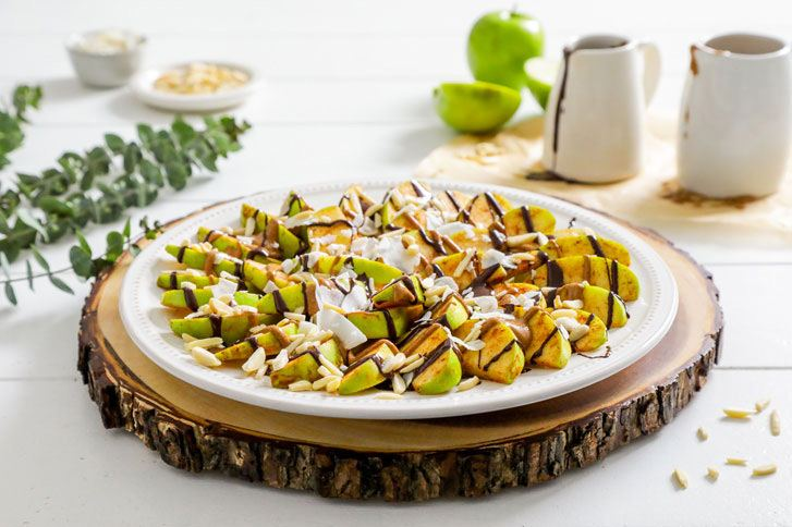 Simply Organic Organic Apple Nachos with Spiced Nut Butter Recipe Recipe