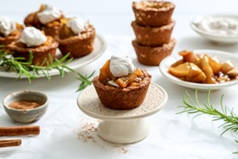 Organic Apple Oatmeal Cookie Cups with Allspice