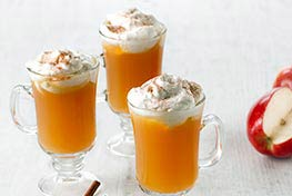 Organic Mulled Cider with Cinnamon Whipped Cream