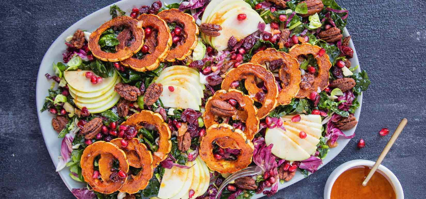 Organic Kale, Radicchio and Brussels Sprout Salad
