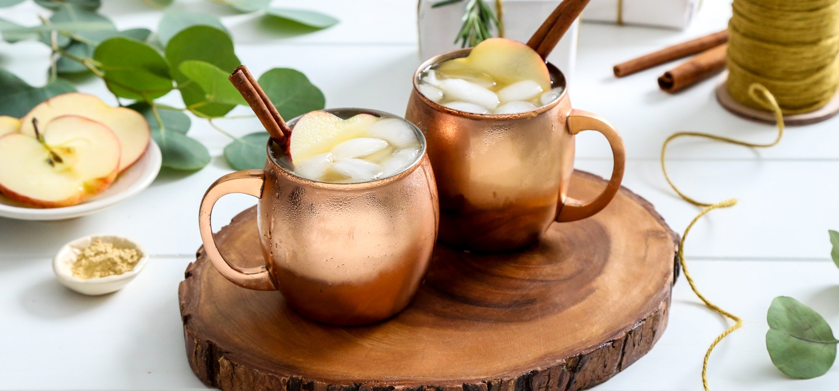 Simply Organic Holiday Apple Cider Moscow Mule Recipe