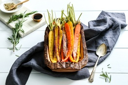 Organic Rosemary Balsamic Roasted Carrots