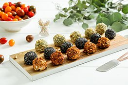 Organic Mini Cheese Balls with Cherry Tomatoes