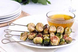 Organic Brussels Sprouts with Sage Brown Butter