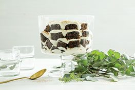 Organic Gingerbread White Chocolate Mousse Trifle
