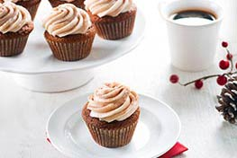 Organic Gingerbread Cupcakes with Vanilla Cream Cheese Frosting