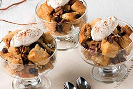 Organic Vanilla Bourbon Bread Pudding