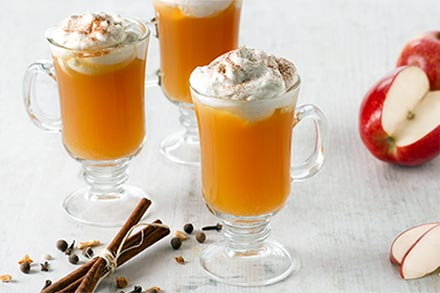 Simply Organic Holiday Organic Mulled Cider with Cinnamon Whipped Cream Recipe