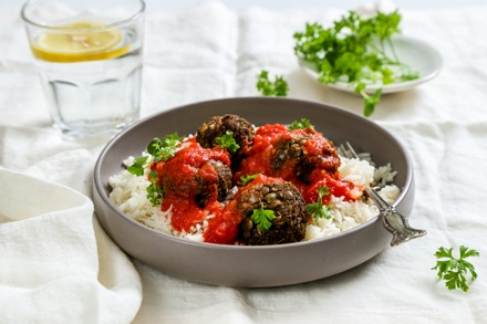 Organic Spanish Vegan Meatballs with Smoked Paprika