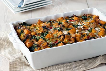 Simply Organic Holiday Organic Festive Vegetarian Breakfast Casserole Recipe