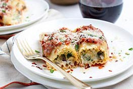 Organic Roasted Red Pepper Lasagna Roll-Ups