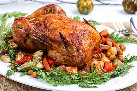 Simply Organic Holiday Organic Smoked Paprika Roasted Chicken Recipe