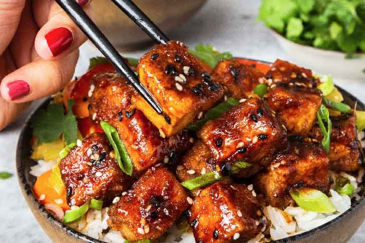 Simply Organic Organic Spicy Maple, Ginger and Five Spice Glazed Tofu Recipe Recipe