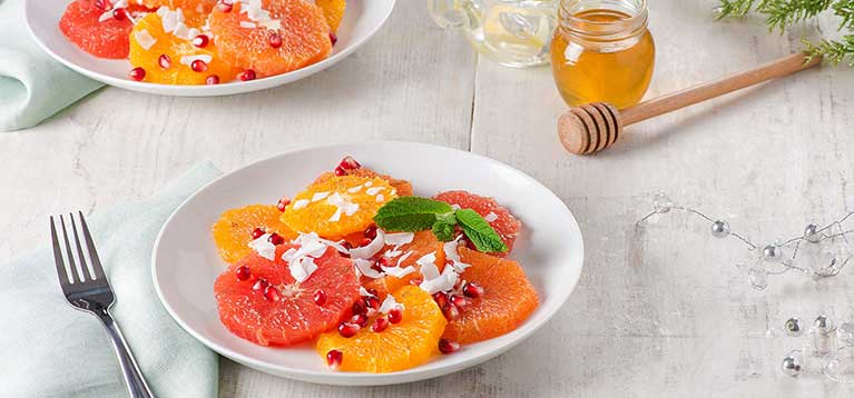 Simply Organic Holiday Organic Cardamom Citrus Fruit Salad Recipe