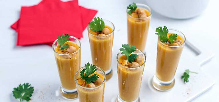 Simply Organic Holiday Organic Curried Butternut Squash Soup Shooters Recipe