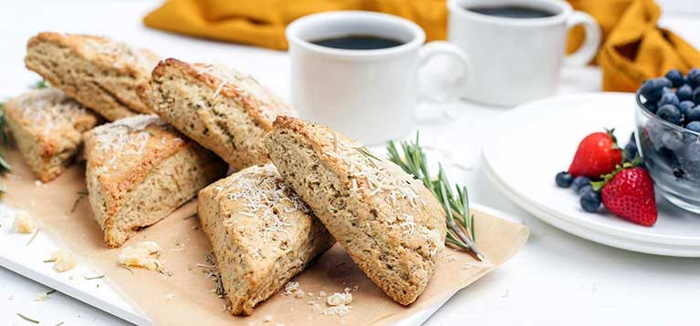 Simply Organic Holiday Organic Rosemary and Parmesan Cheese Scones Recipe