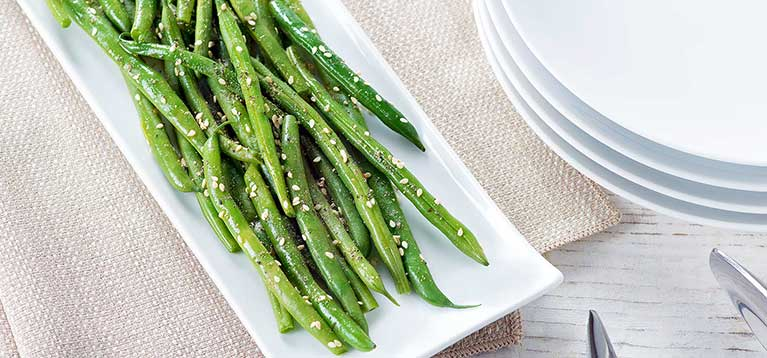 Simply Organic Holiday Organic Sesame Ginger Green Beans Recipe