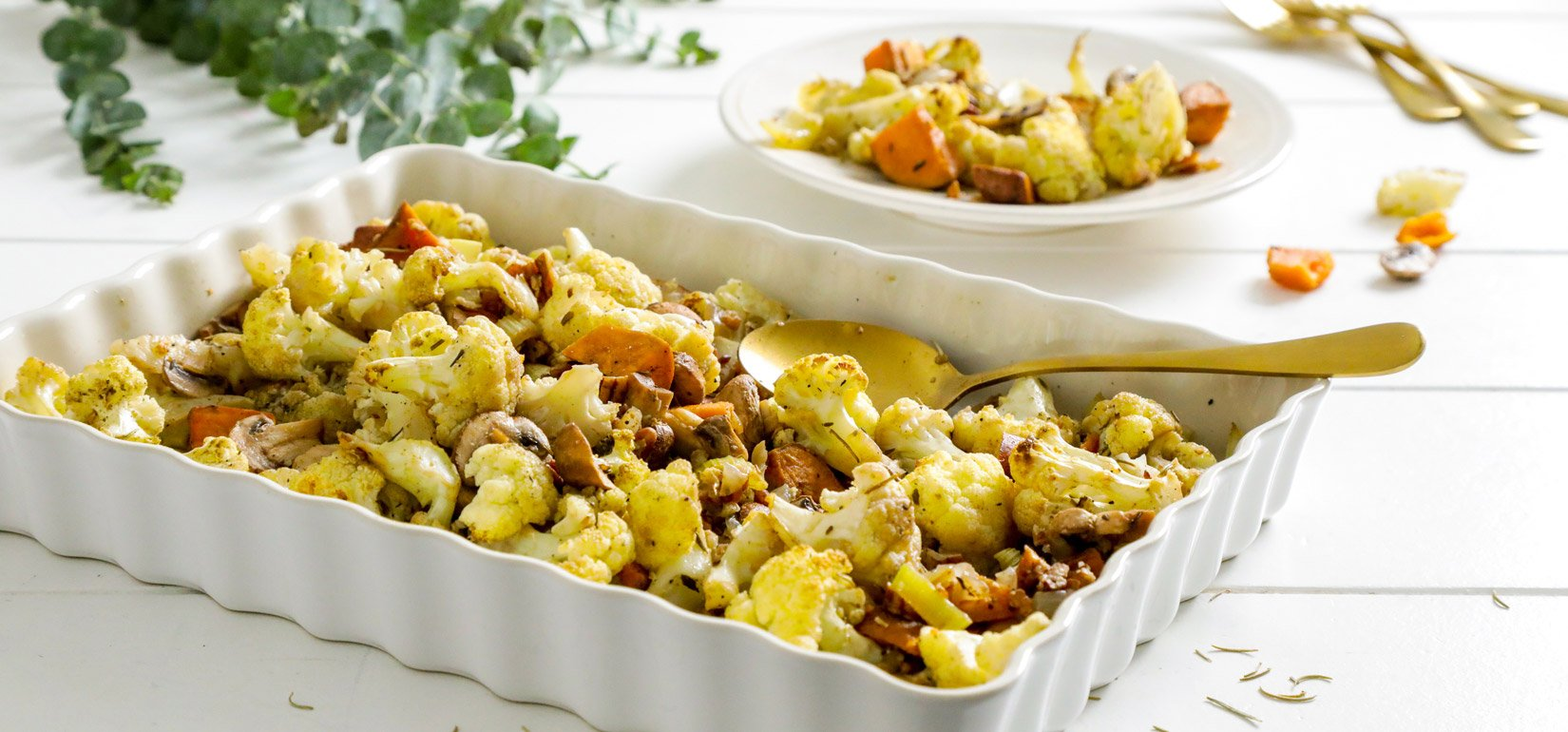 Organic Cauliflower Stuffing with Rosemary and Sage Recipe