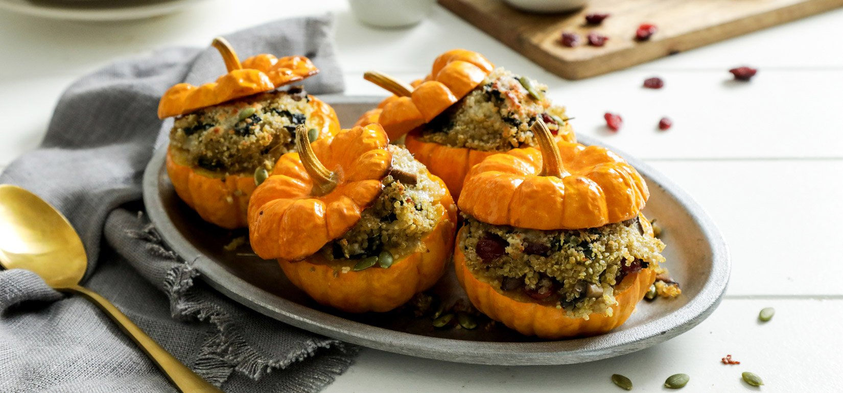 Organic Savory Stuffed Mini Pumpkins Recipe