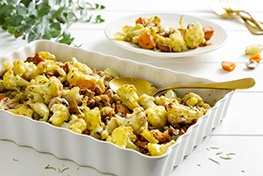 Organic Cauliflower Stuffing with Rosemary and Sage