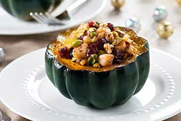 Organic Allspice Acorn Squash with Fruit and Nuts