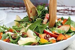 Organic Harvest Salad with Cinnamon Cranberry Vinaigrette