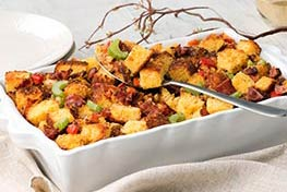 Organic Peppery Bacon Cornbread Stuffing