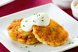 Organic Peppery Potato Pancakes
