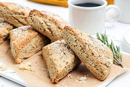 Organic Rosemary and Parmesan Cheese Scones